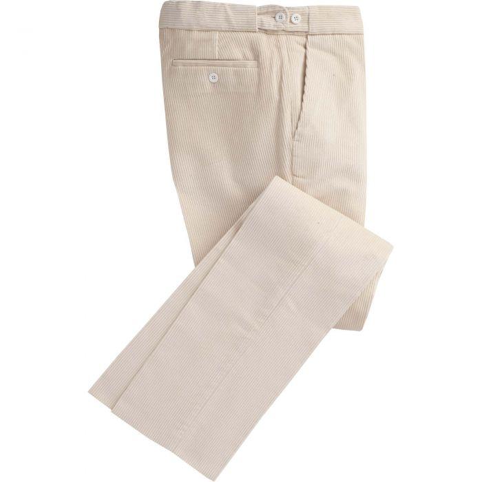 Ivory Corduroy Trouser