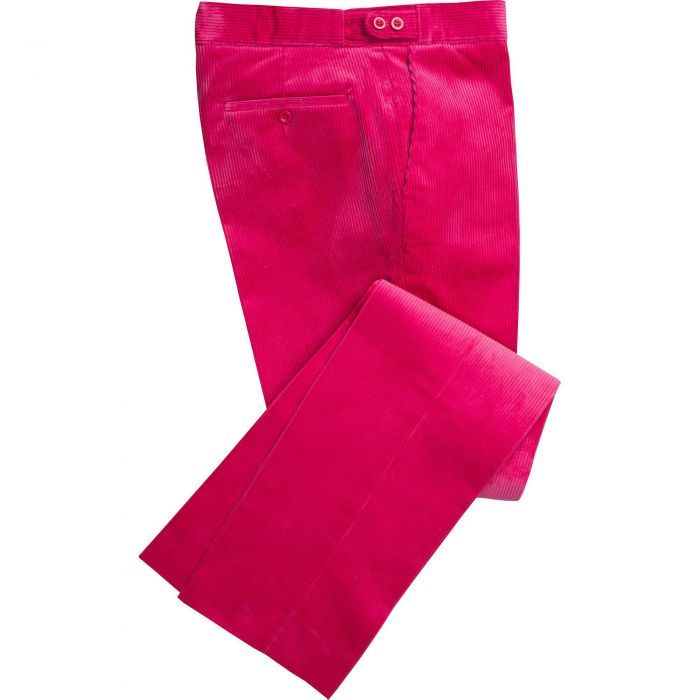 Bright Pink Corduroy Trousers