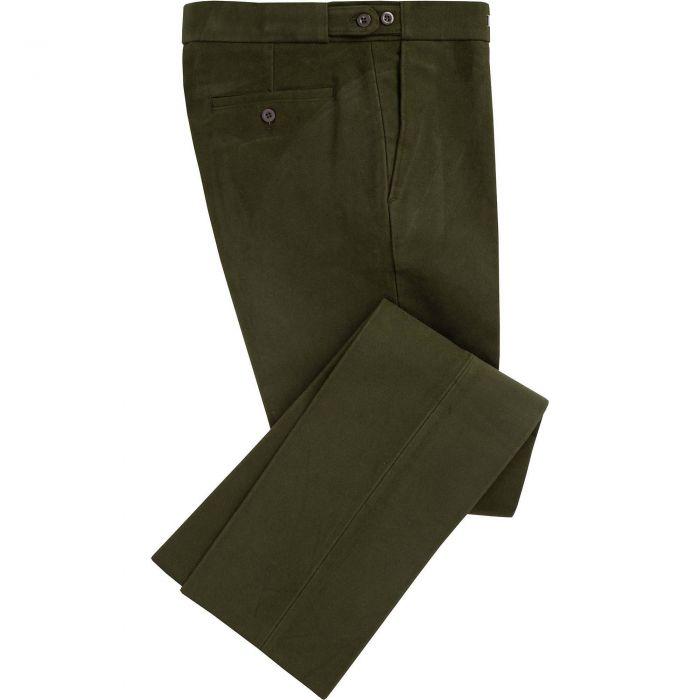 Olive Green Moleskin Trousers