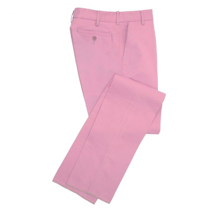Zip Fly Pink Chino Trousers