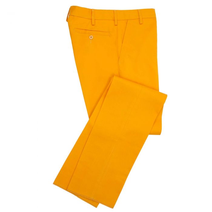 Zip Fly Gold Chino Trousers