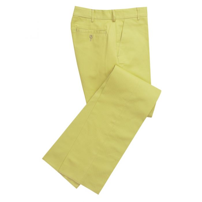 Zip Fly Apple Bright Chino Trousers