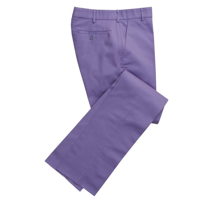 Button Fly Lilac Bright Chino Trousers
