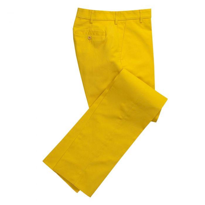 Zip Fly Yellow Bright Chino Trousers