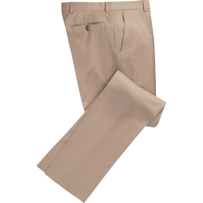 Fawn Worsted Twill Trousers