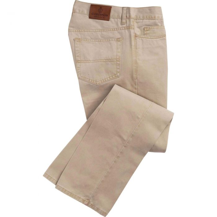 Stone Cotton Twill Jeans