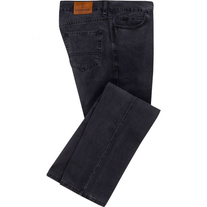 Charcoal Cotton Twill Jeans