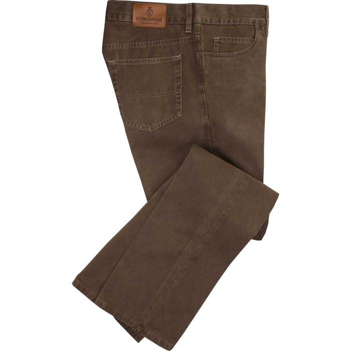 Taupe Cotton Twill Jeans