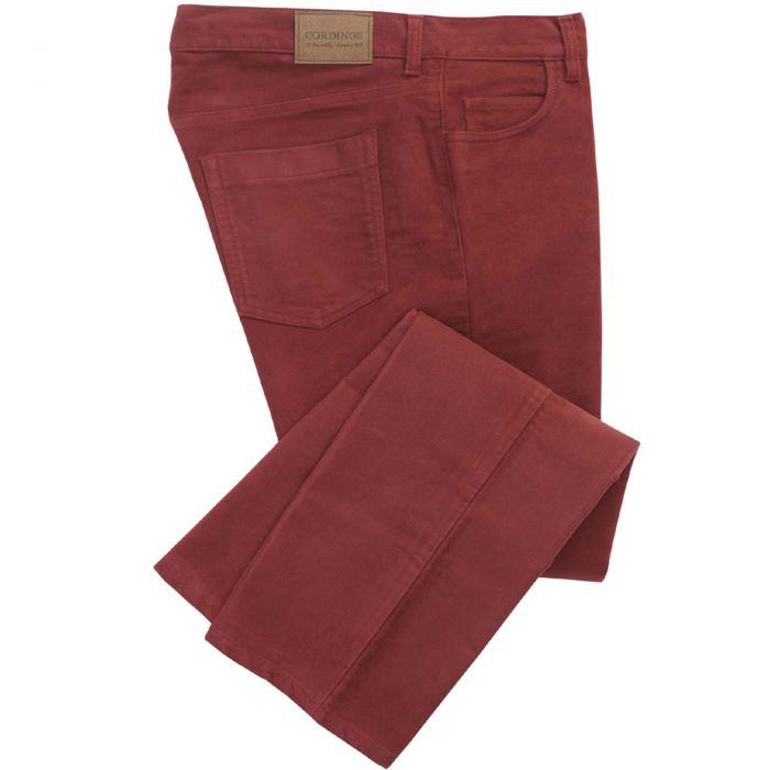 Garnet Red Moleskin Jeans