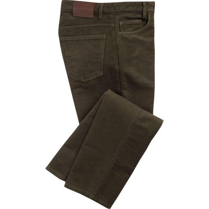 Olive Moleskin Jeans