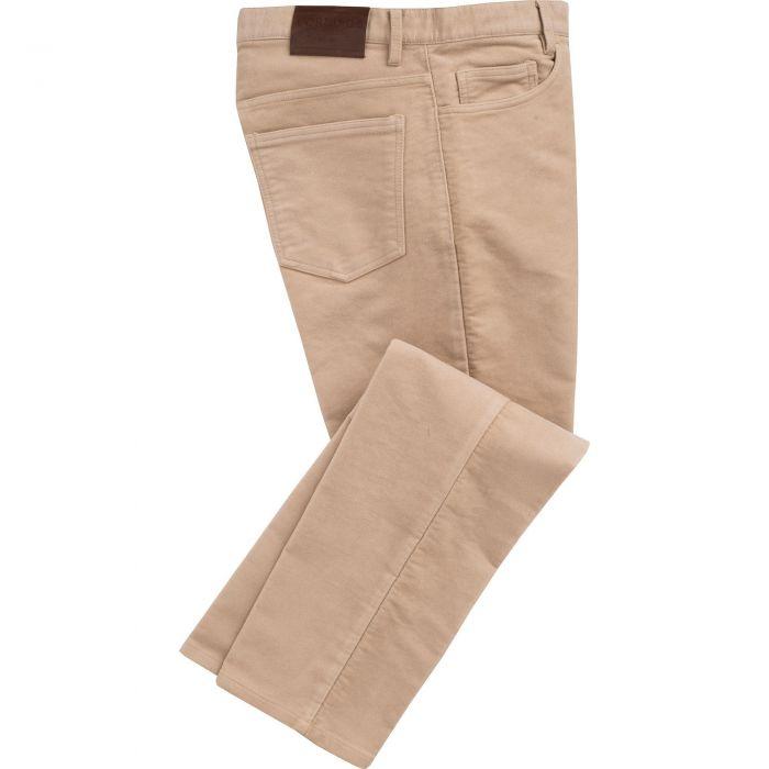 Beige Moleskin Jeans