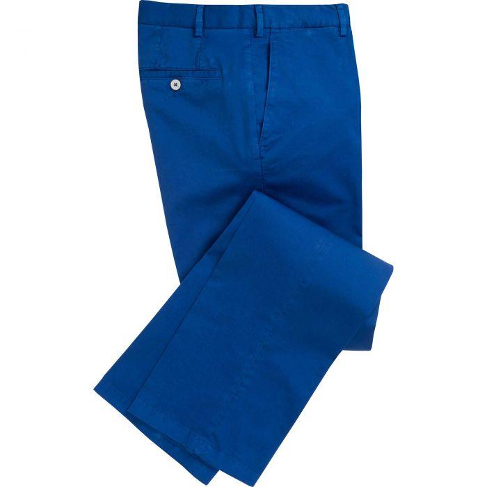 Royal Blue Summer Gabardine Trousers