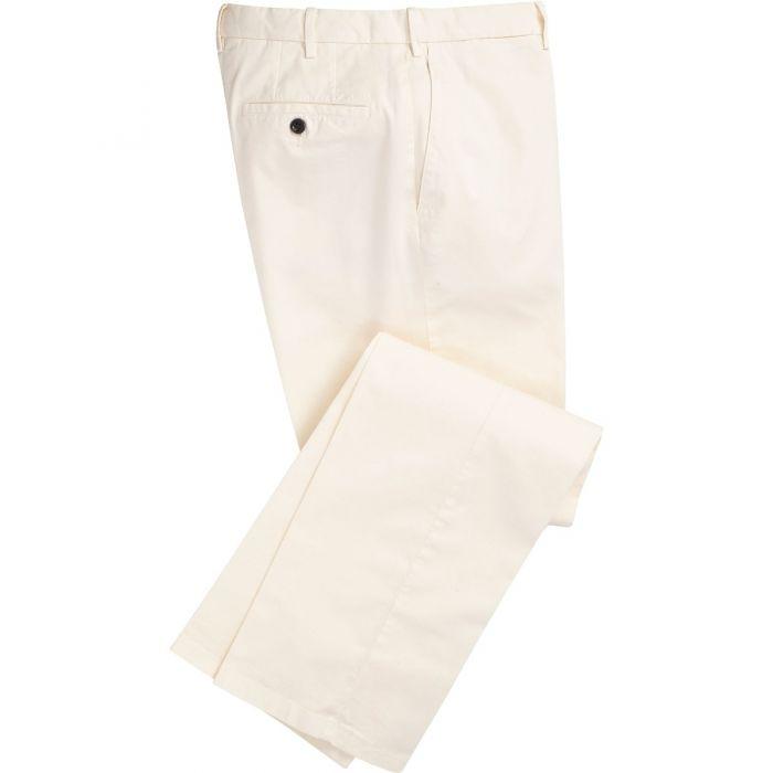 Cream Gabardine Trousers