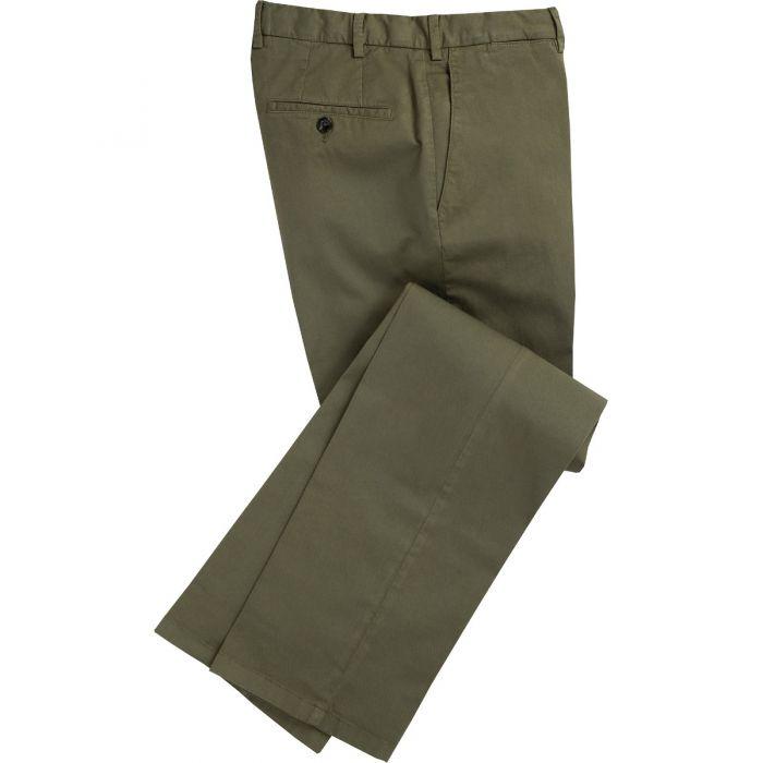 Dark Khaki Summer Gabardine Trousers