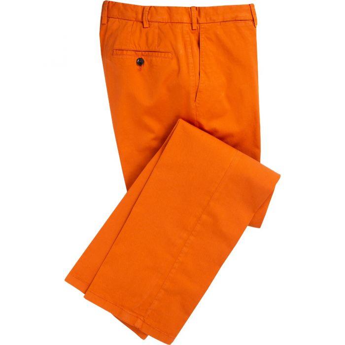 Bright Orange Summer Gabardine Trousers