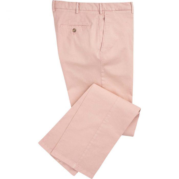 Pale Pink Summer Gabardine Trousers