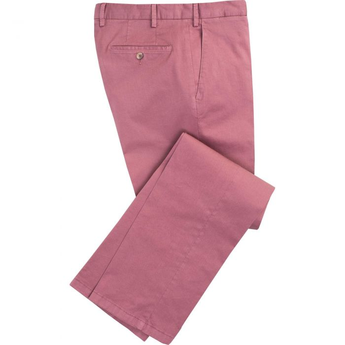 Brick Red Gabardine Trousers