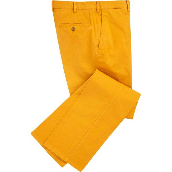 Corn Yellow Summer Gabardine Trousers