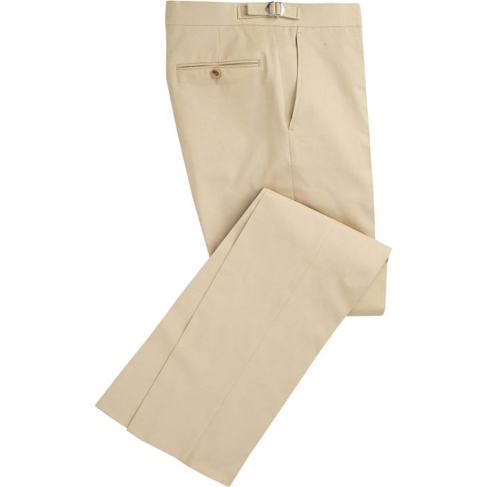 Khaki Cotton Parade Fine Drill Trousers