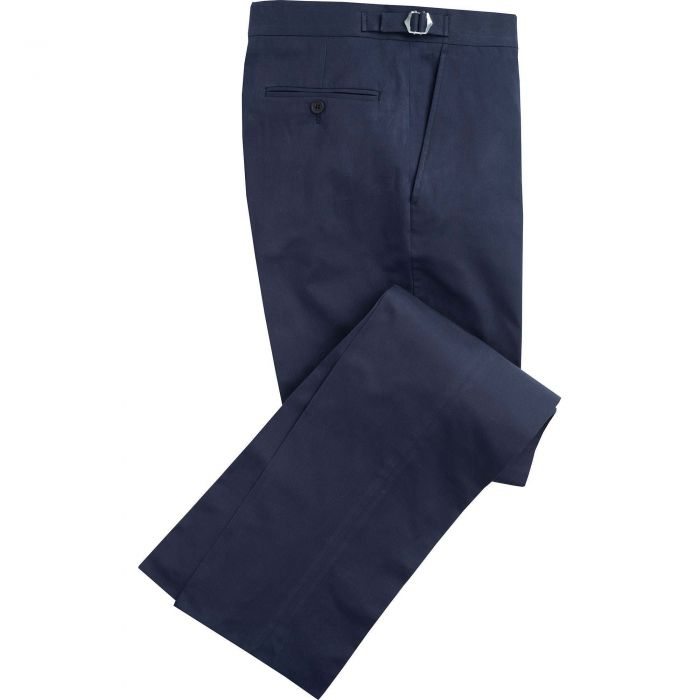 Navy Cotton Parade Fine Drill Trousers