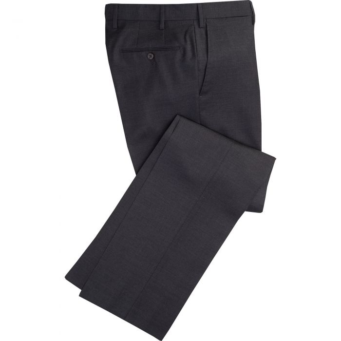 Charcoal Worsted Super 100's Trousers