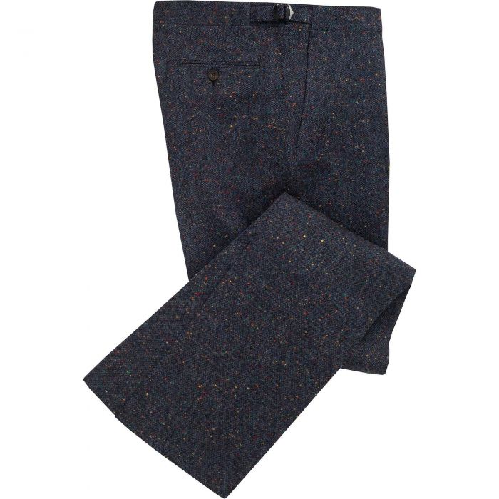 Navy Derry Irish Donegal Trousers