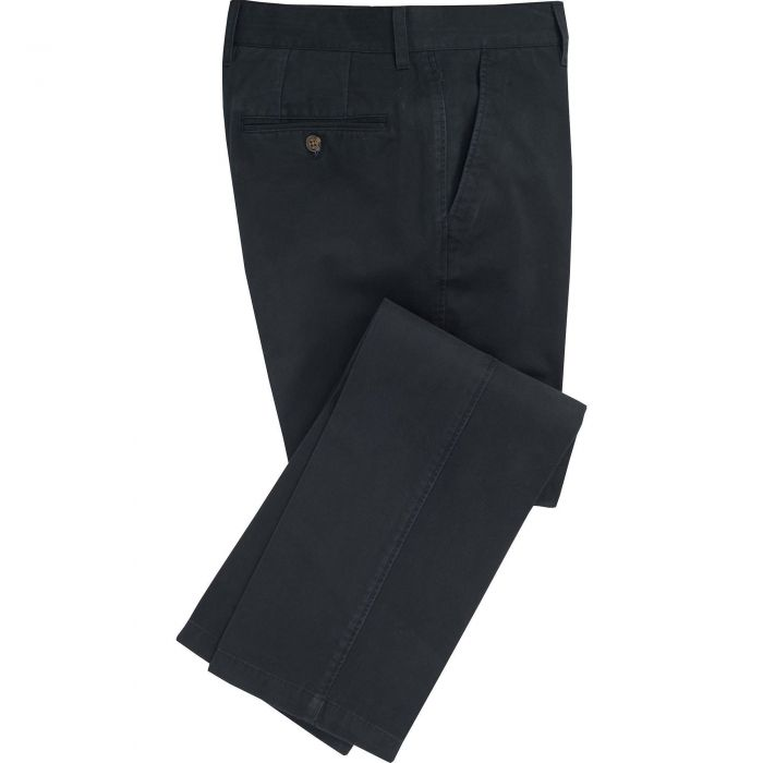 Navy Washed Twill Trousers
