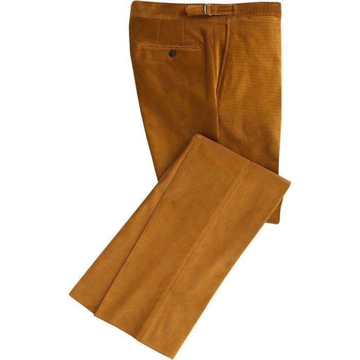 Tan Horizontal Corduroy Trousers