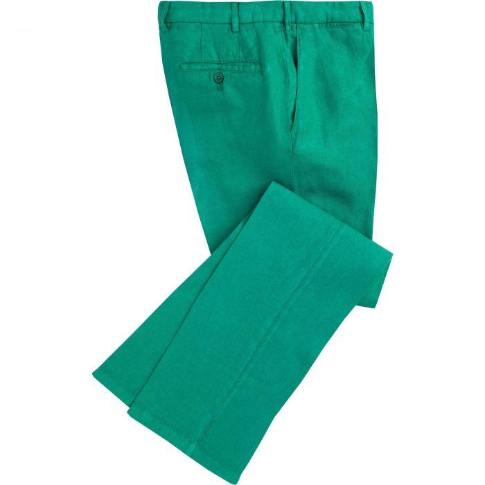 Emerald Green Douglas Linen Trousers