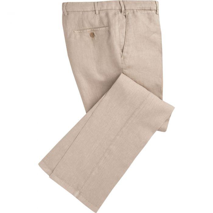 Sand Douglas Linen Trousers
