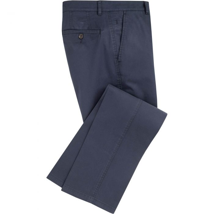 Navy Mowbray Washed Twill Trousers