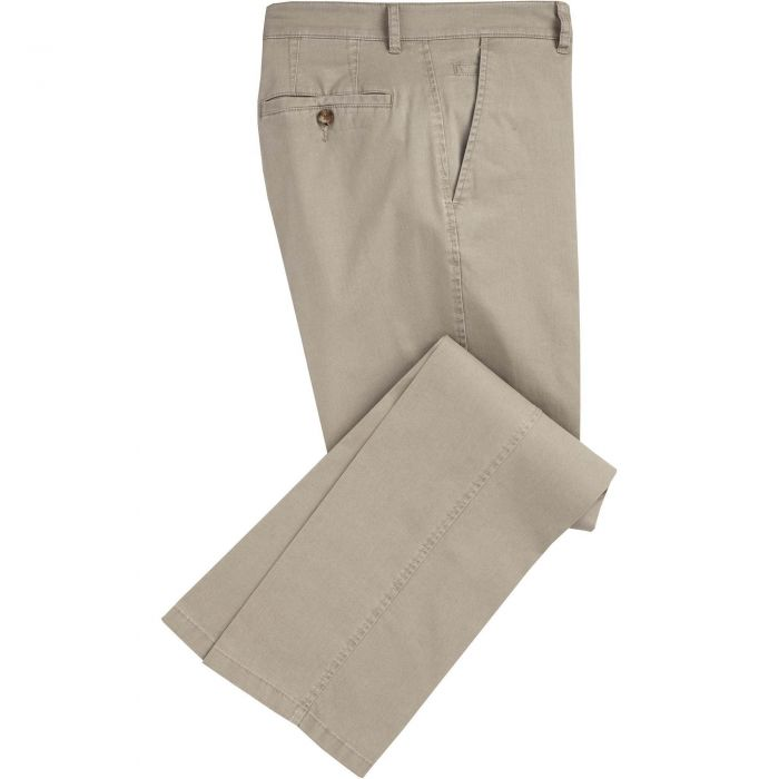 Stone Mowbray Washed Twill Trousers