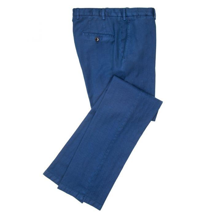 Cotton Linen Herringbone Trousers