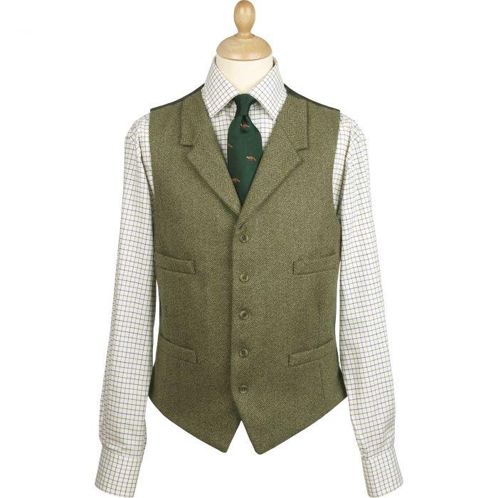 Firley Collared Waistcoat Herringbone