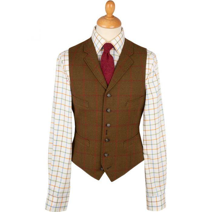 Brown Otley Tweed Waistcoat