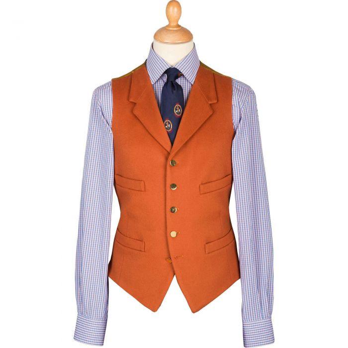 Orange Rust Collared Doeskin Waistcoat