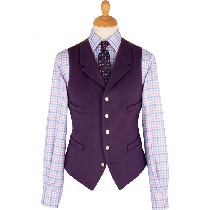 Deep Purple Collared Doeskin Waistcoat