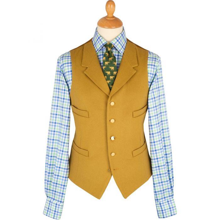 Yellow Collared Doeskin Waistcoat