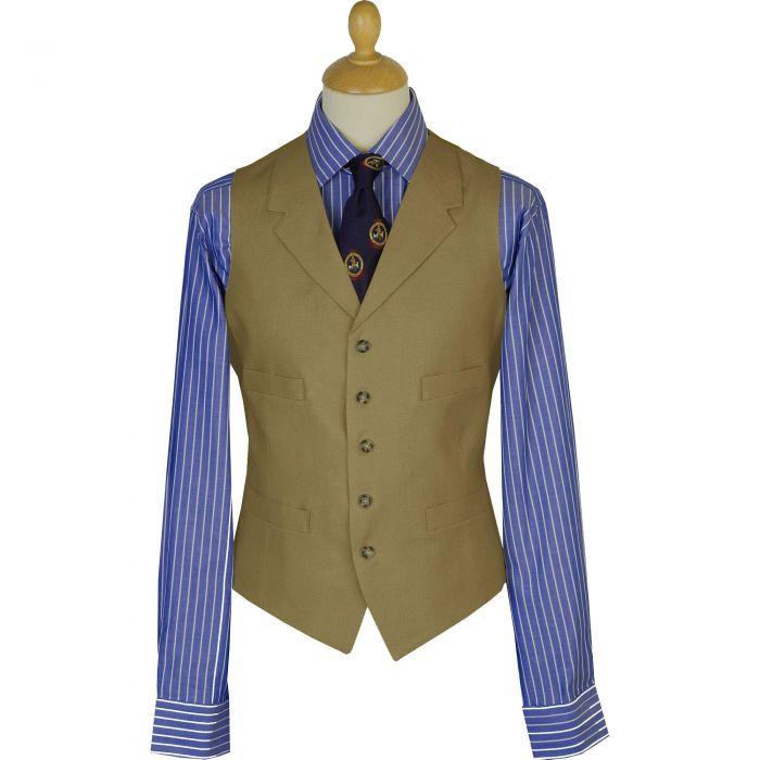 Olive Linen Waistcoat