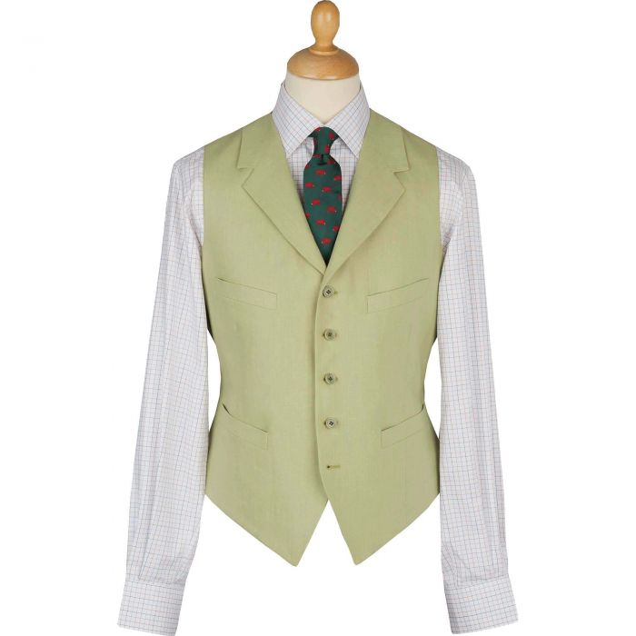 Light Green Linen Waistcoat