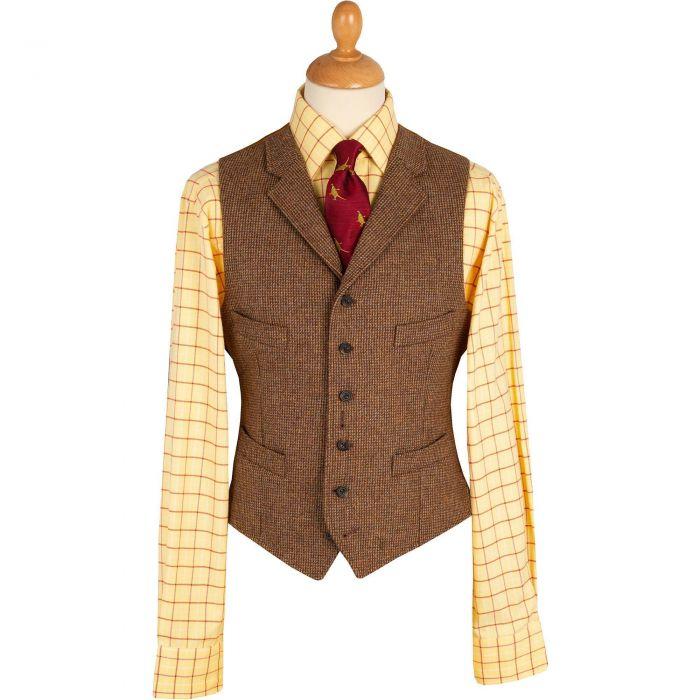 Brown Hunting Tweed Waistcoat