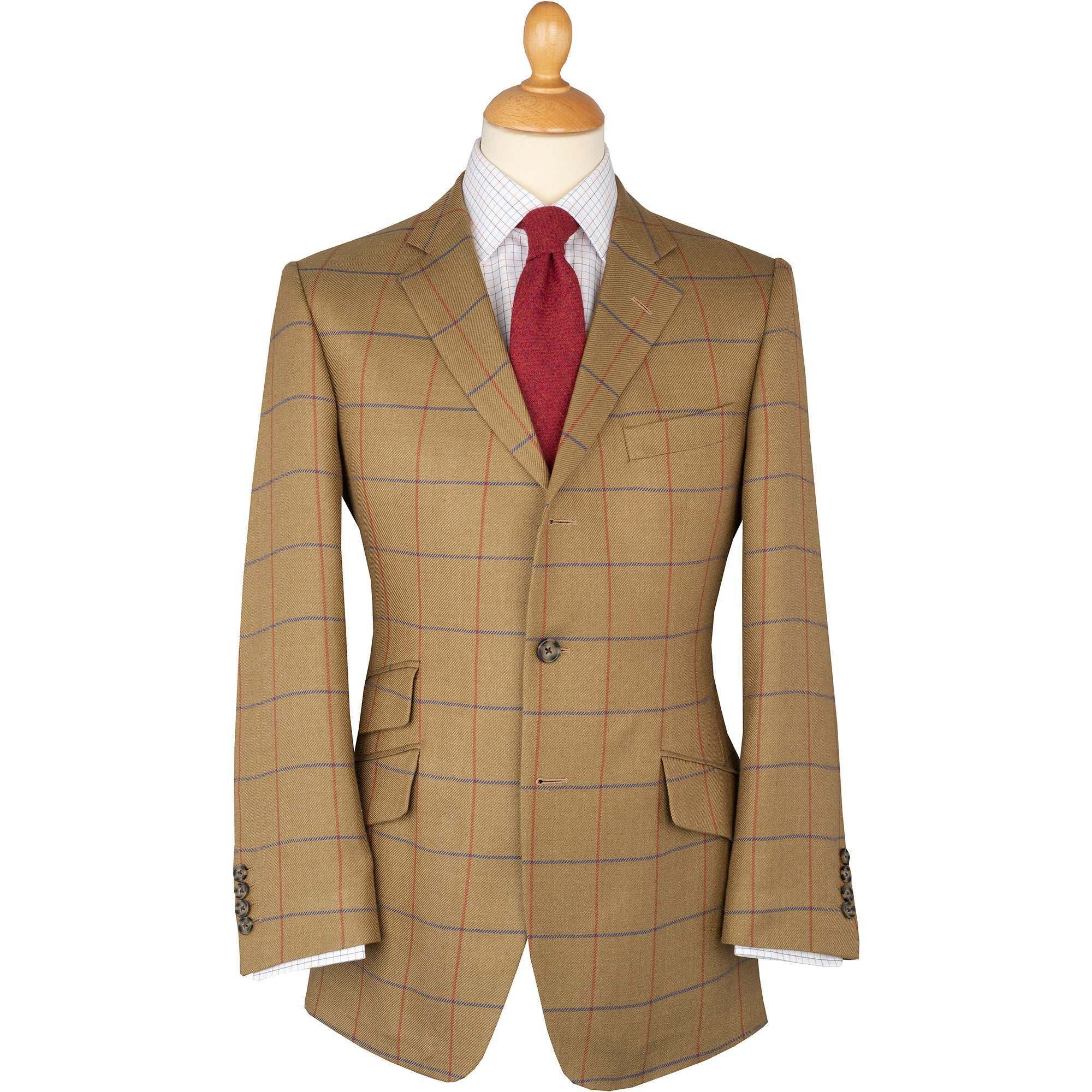 Sage Green Henry Half Lined Wool, Linen And Silk Tweed