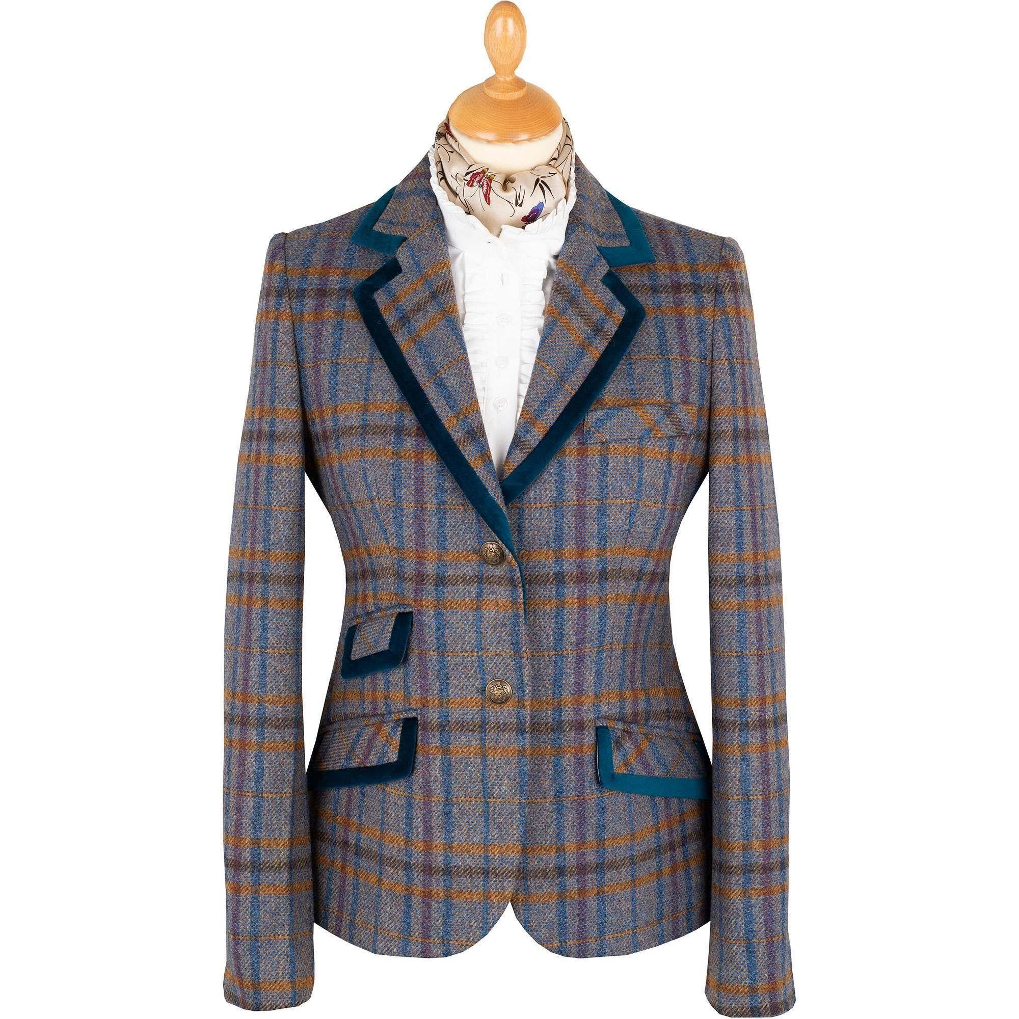Blue Cadiz Tweed Jacket | Ladies Country Clothing | Cordings