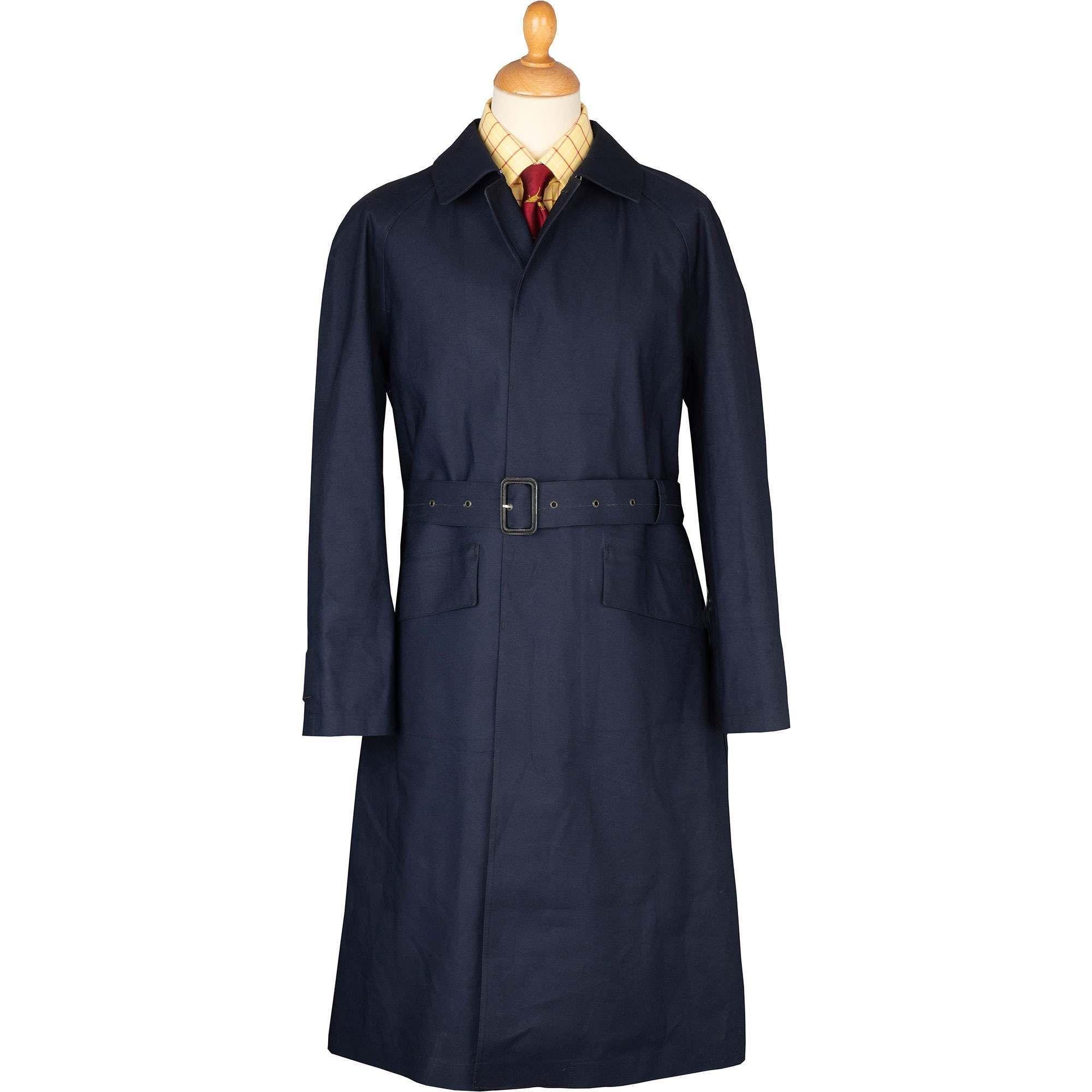 Navy Hampton Mackintosh Raincoat | Men's Country Clothing ...