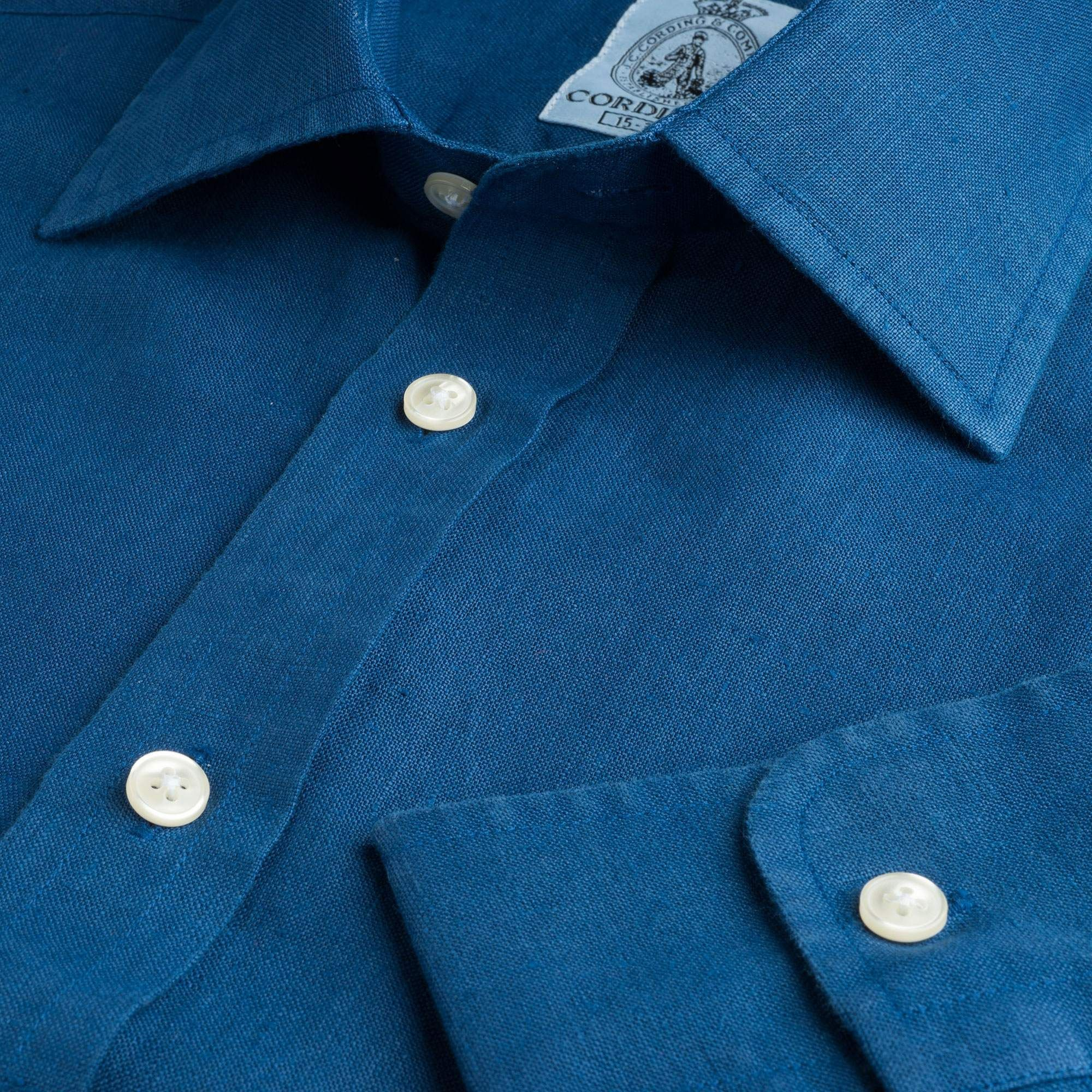 Royal Blue Vintage Linen Shirt