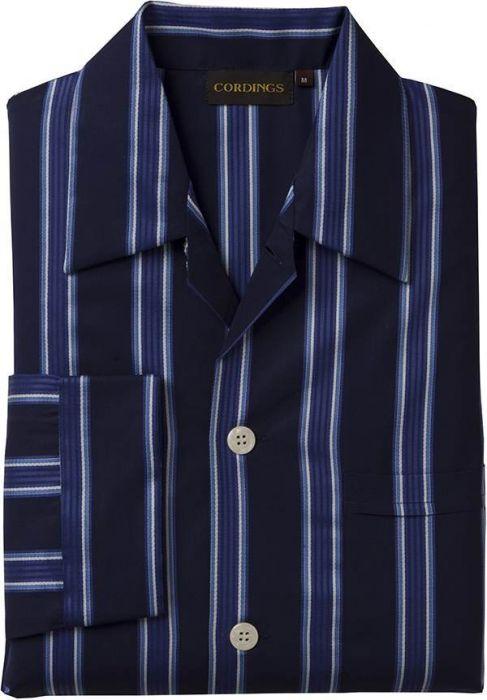 Navy Blue Stripe Satin Pyjama