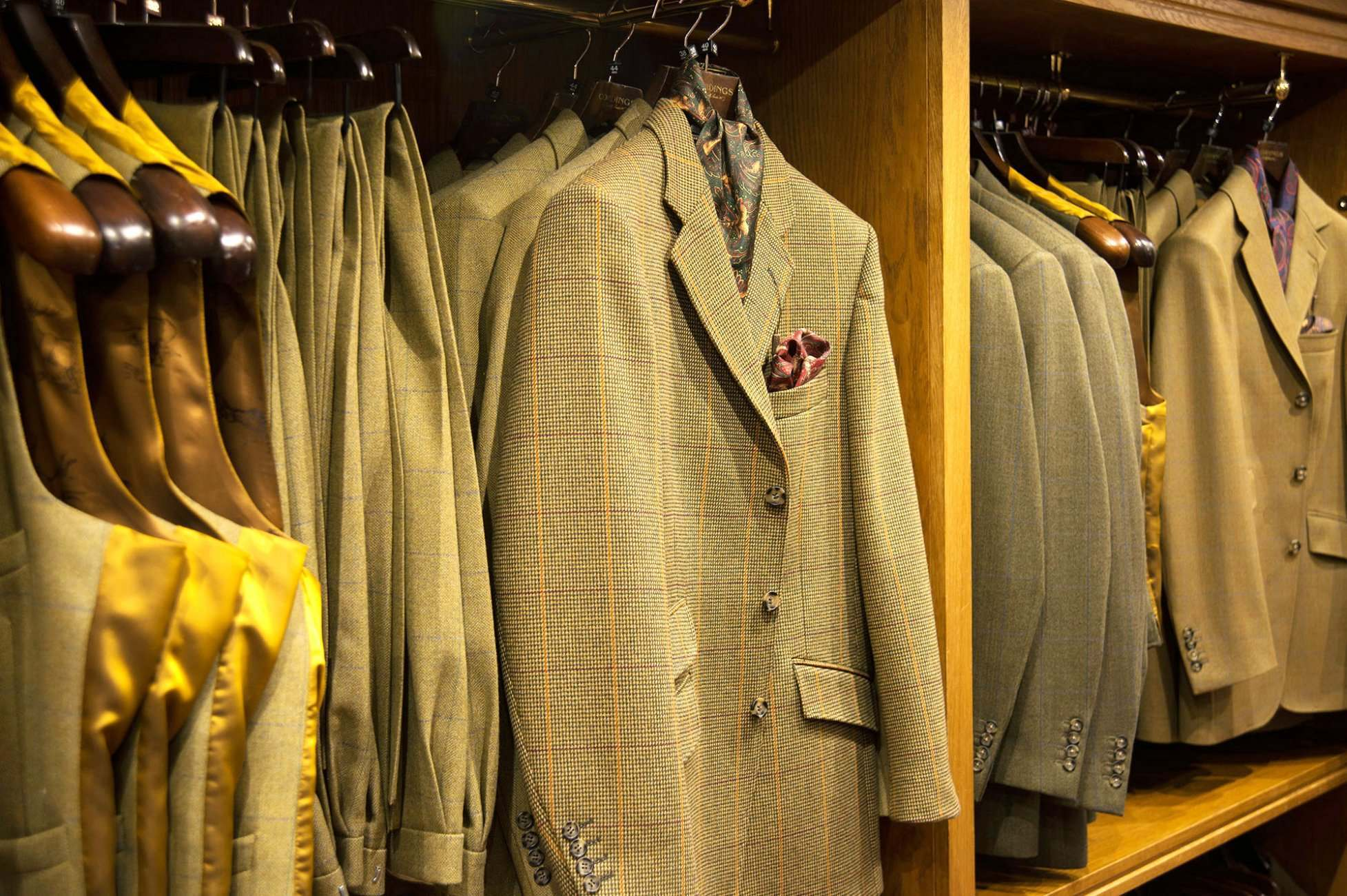 British tweed, a cornerstone of Cordings menswear.