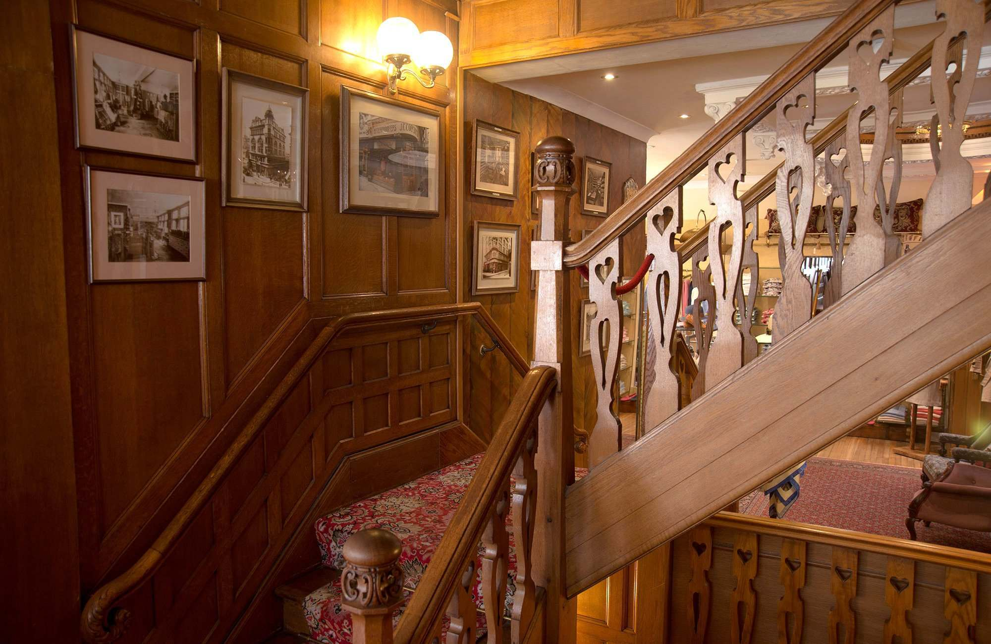 Edwardian oak panelling and staircase