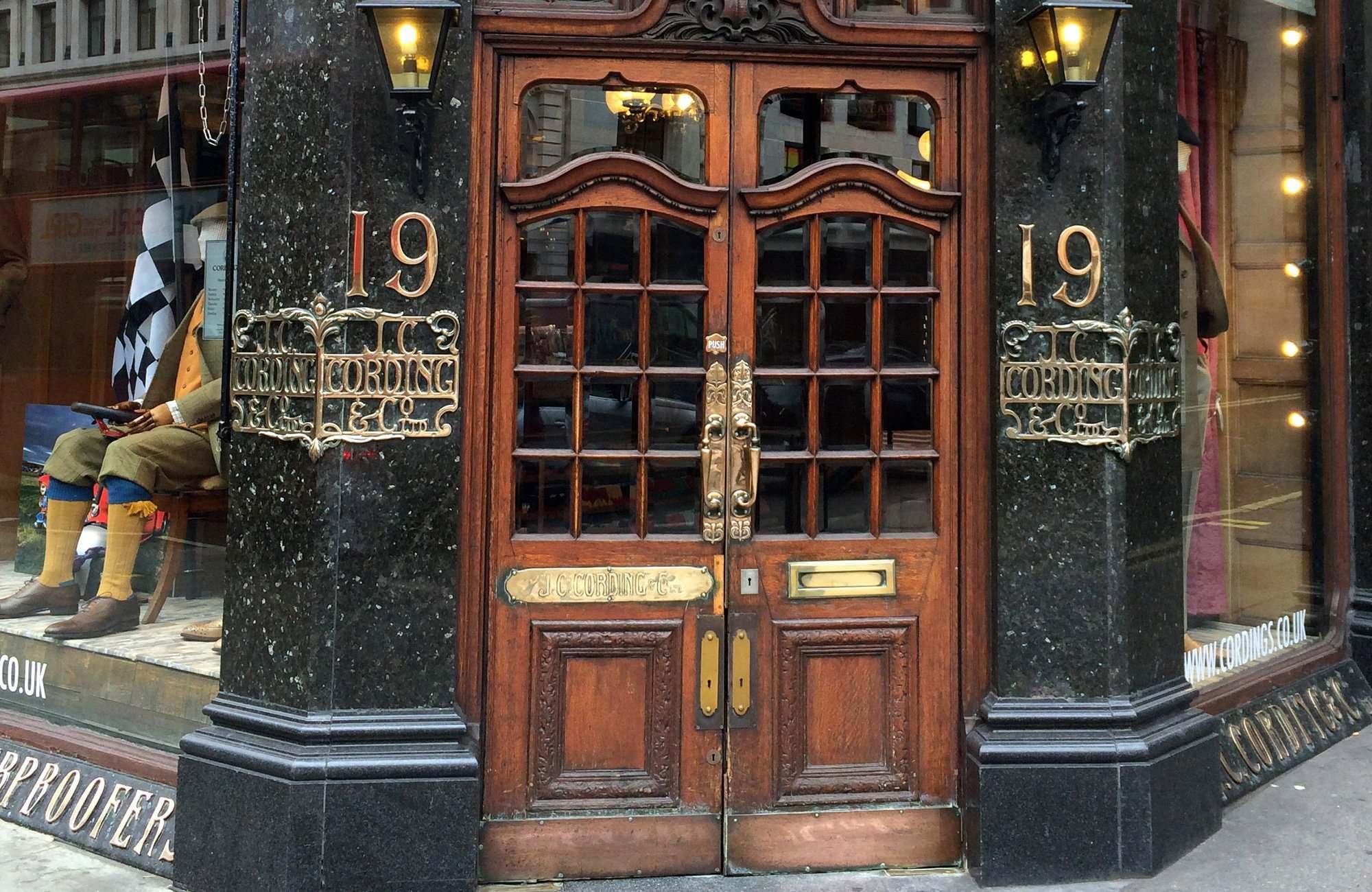 Cordings historic entrance.