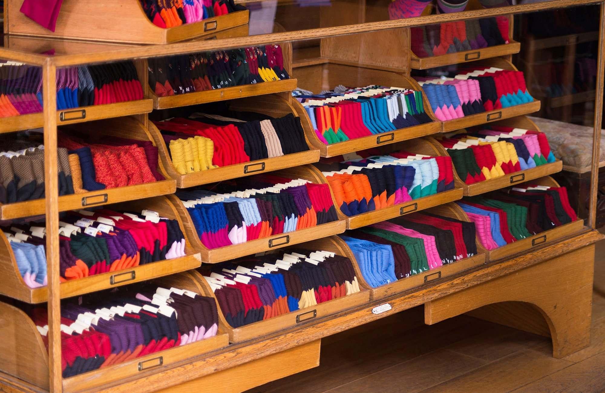 The Edwardian sock cabinet in reception
